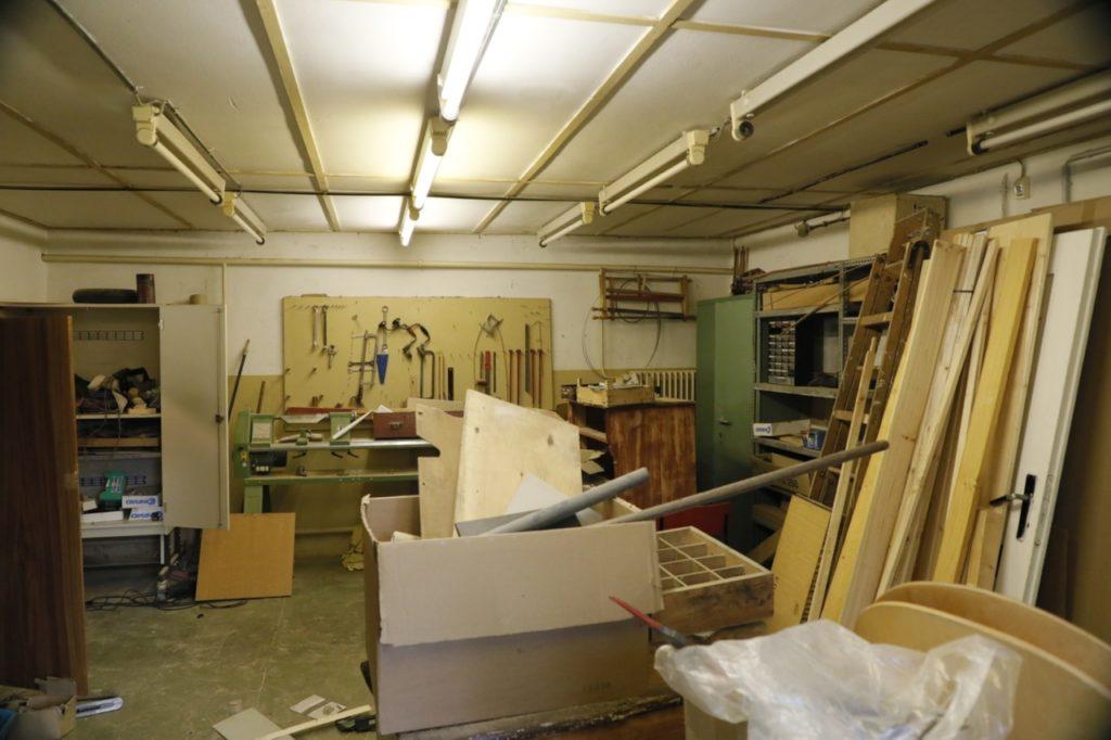 Werkstatt vorher