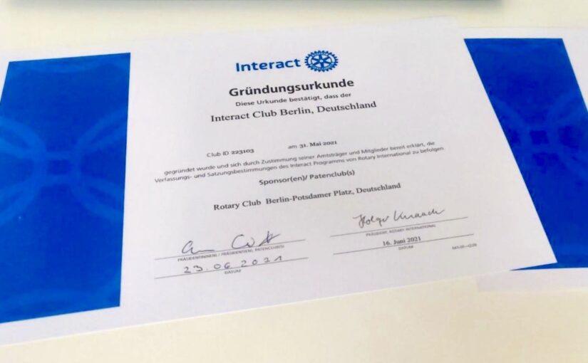 Interact Club Berlin gechartert